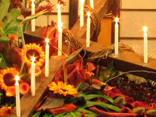 Easter floral decorations:  Work step by step through this floral design that starts with a  large cross leaning diagonally on the altar/