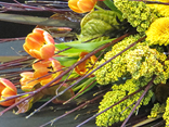 Effective and  fabulous flower arrangements for reception desks and counters