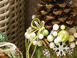 Pine cones  make excellent Christmas decorations...floral design magazine shows you how