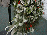 Using foliage in the New Zeland style for large scale foyer flower arrangement ideas.