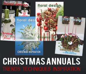 Collect the prized  back copy Christmas specials of floral design  magazine for myriad  ideas and lessons on flower arranging and floral arrangements