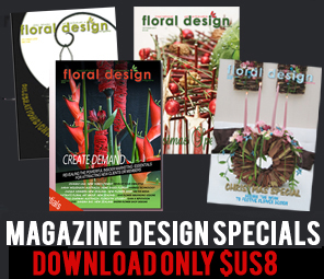 Collect the prized  back copy specials of floral design  magazine for myriad  ideas and lessons on flower arranging and floral arrangements