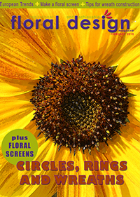 This affordable edition of floral design magazine gives you latest  designs for Floral Circles, Wreaths and Rings