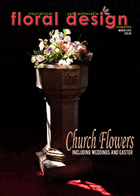 This affordable edition of floral design magazine gives you flower arranging ideas for Easter and church arrangements.!