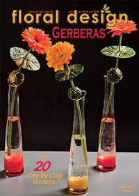 Creative Flower Arranging with Gerberas is the theme in this stunning edition of floral design magazine
