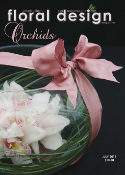 Innovative flower arranging using Orchids
