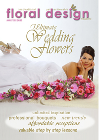 This affordable edition of floral design magazine will thrill not only yourself but your brides, brides' mothers, the florists around you and of course YOU! PLUS expect to see practical step by step flower arranging lessons on how to do many of the latest fascinating wedding techniques.