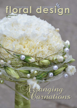 Arranging Carnations step by step DIY lessons