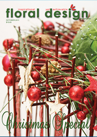 Christmas Mechanics and Techniques  in this stunning Christmas  edition of floral design magazine