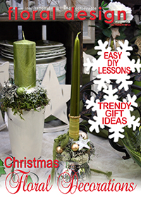 This affordable edition of floral design magazine gives you latest designs for Christmas decorations