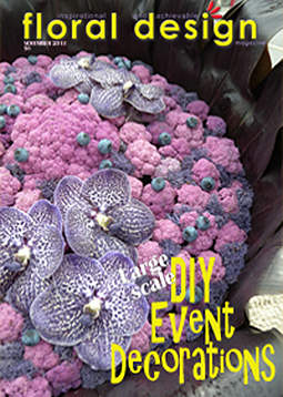 Large Scale floral design for events in this edition of floral design magazine