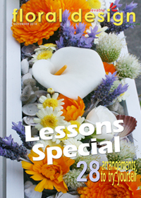 A lessons special  in this stunning edition of floral design magazine