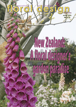 New Zealand flower arrangers use a lot of foliage which grows so well in New Zealand. Try out their flower arranging style for lush, foliage focussed flower arranging.