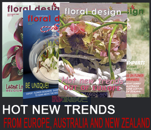 Flower arranging trends and styles from Europe, Belgium, The Netherlands and the Pacific as 4 downloadable, digital editions of floral design magazine.
