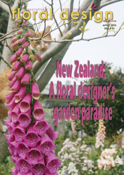 NEW ZEALAND SPECIAL: A FLORAL DESIGNER'S GARDEN PARADISE with floral design magazine