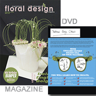 learn the English style of flower arranging on DVD and  more lessons in the magazine-floraldesignmagazine.com